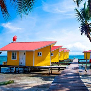 beach-huts-lighthouse-bocas-del-toro-panama